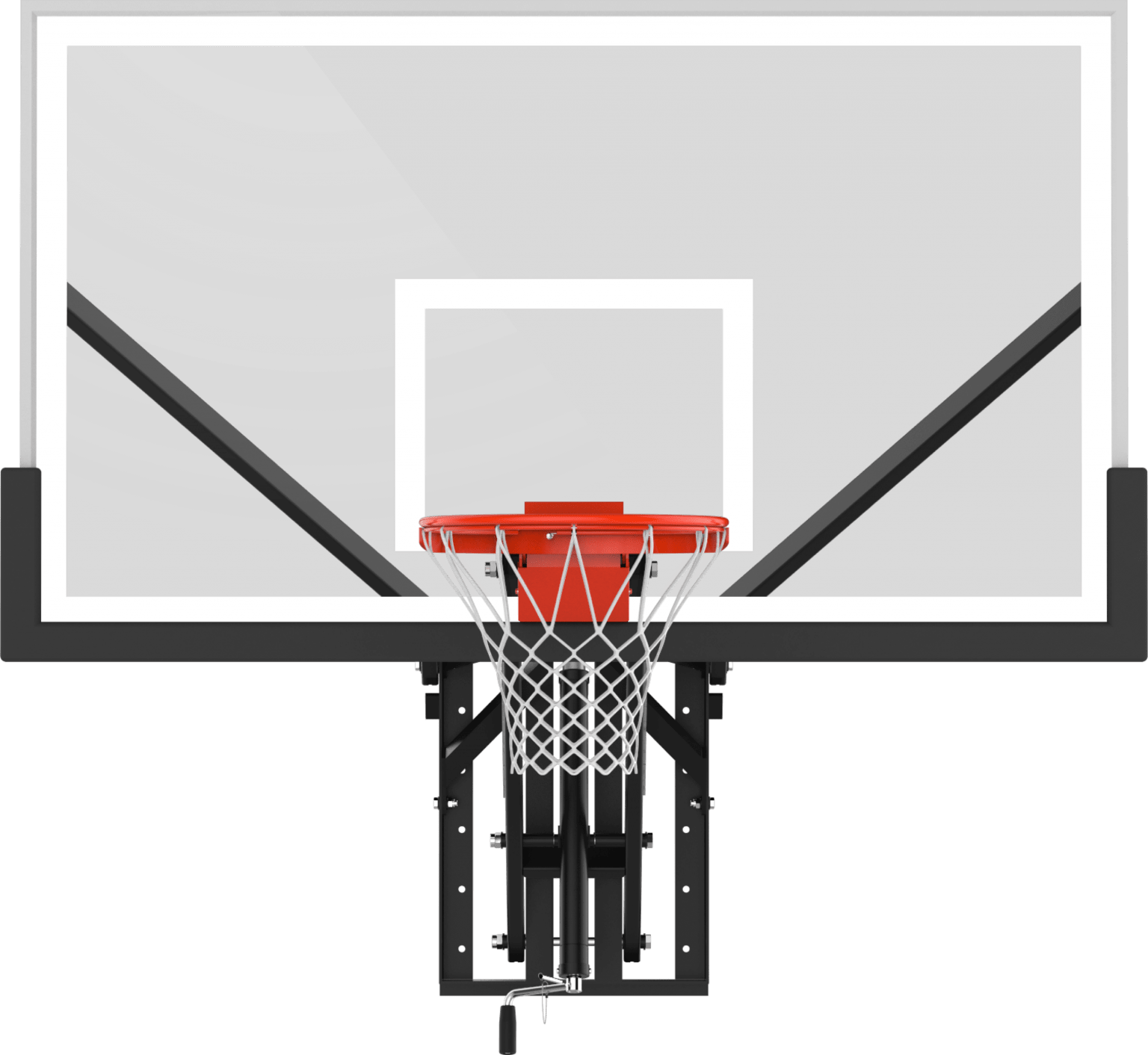 Clear view backboard